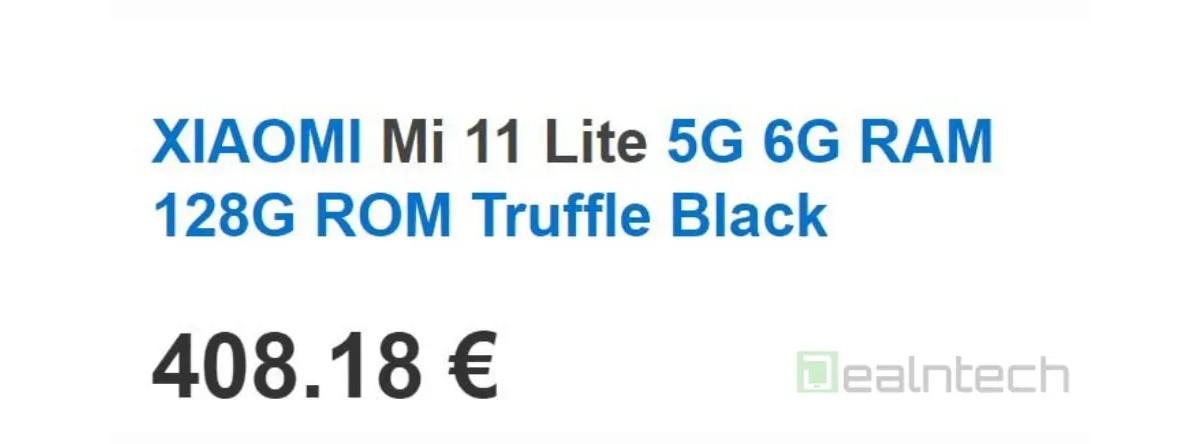 xiaomi mi 11 lite será mais barato que o Mi 11. preço na Europa