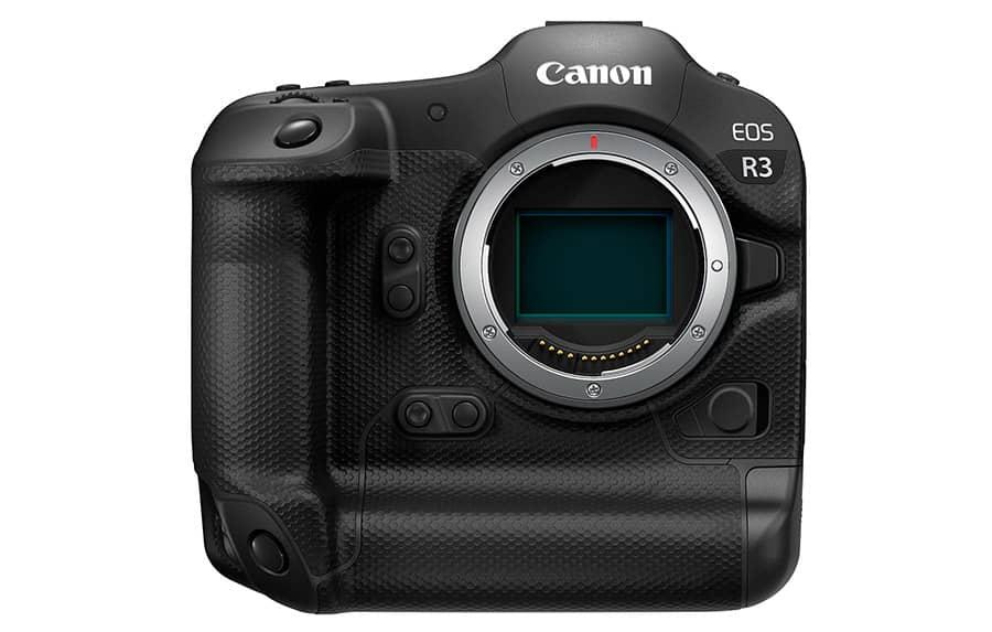 A Canon EOS R3 é uma mirrorless (sem espelho) profissional ultra-rápida e responsiva