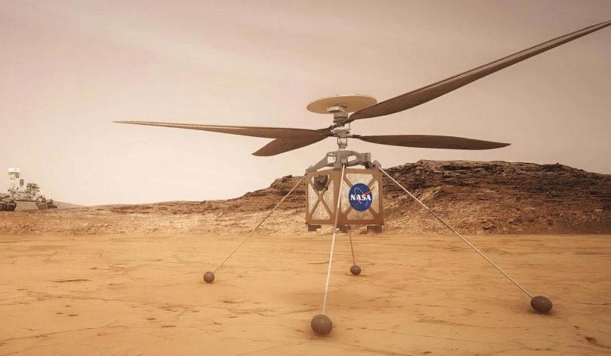 Marte Ingenuity helicóptero
