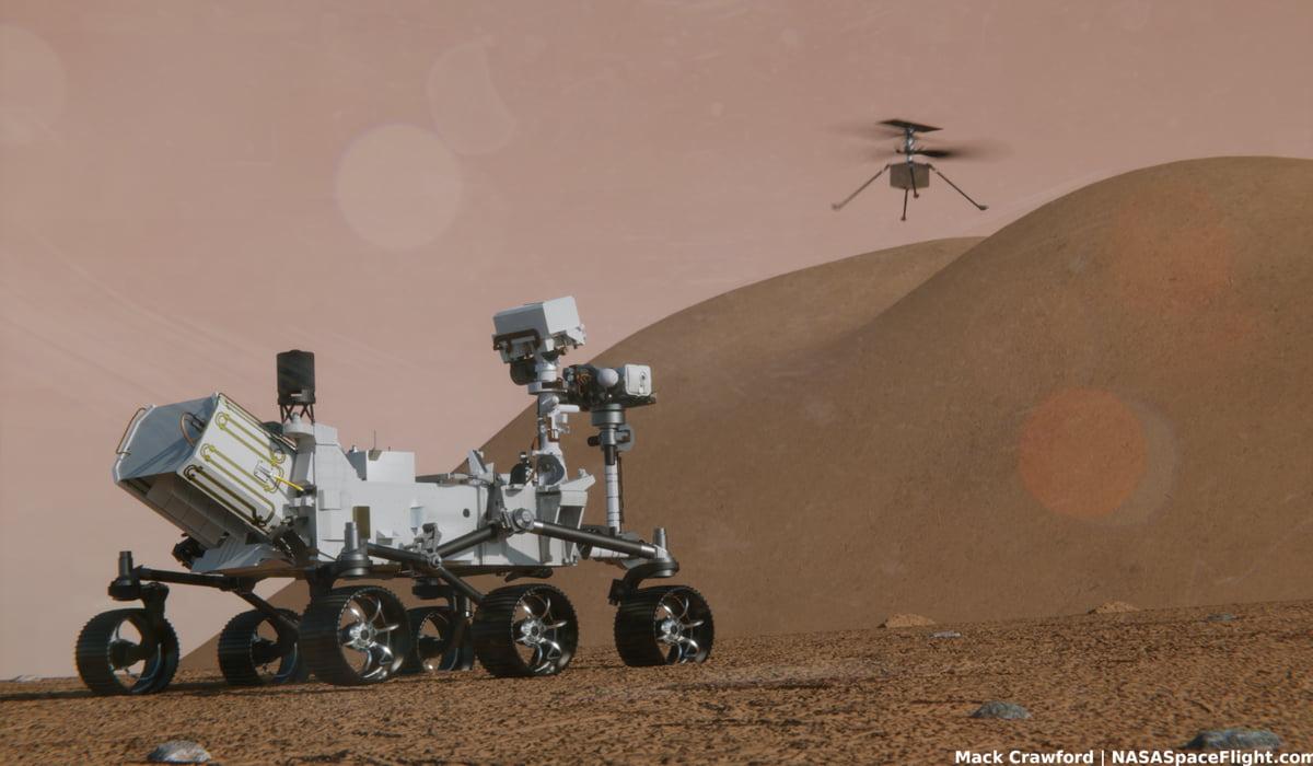 NASA Marte Ingenuity helicóptero