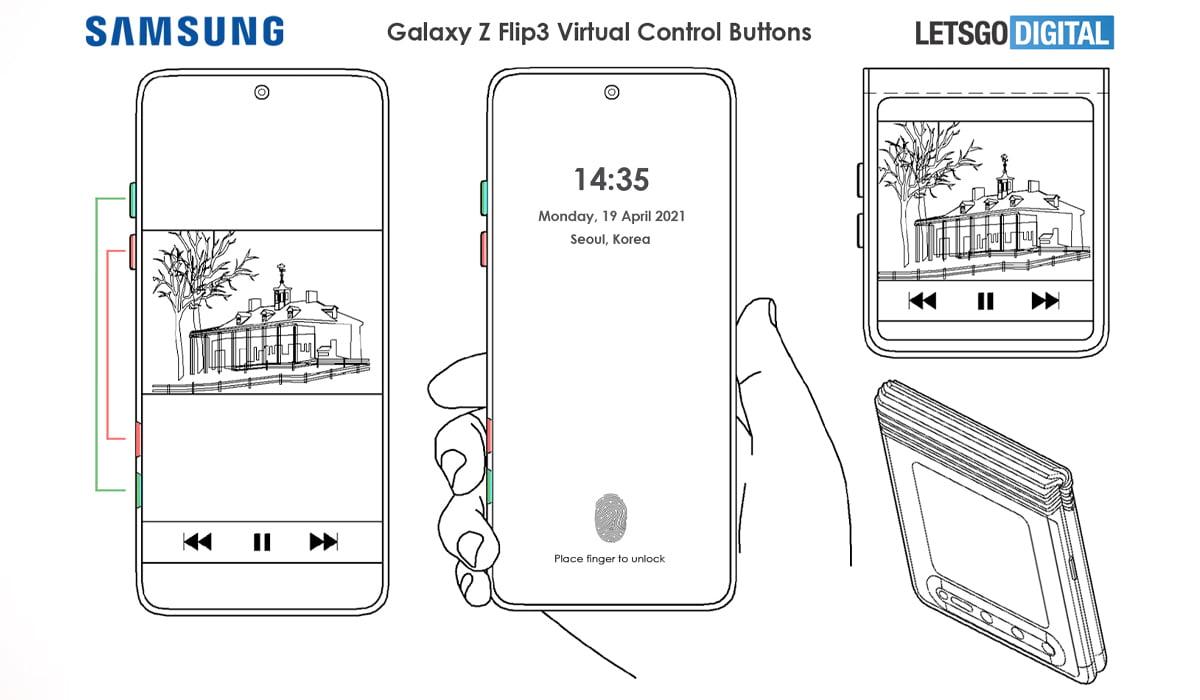 Samsung Galaxy Z Flip 3 patente