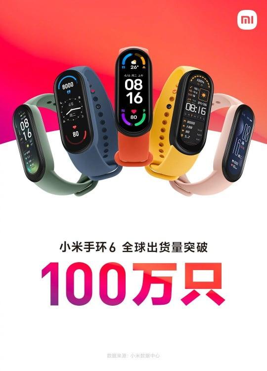 Xiaomi Mi Band 6 1 milhão