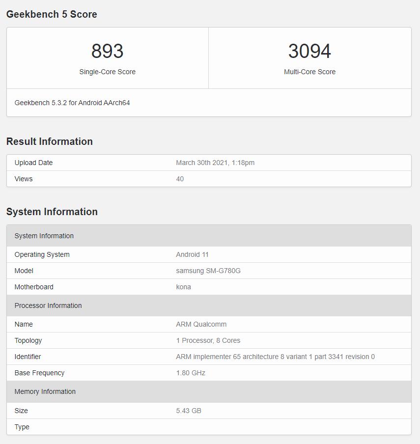 Samsung Galaxy S20 FE 4G Exynos 990 Snapdragon 865+