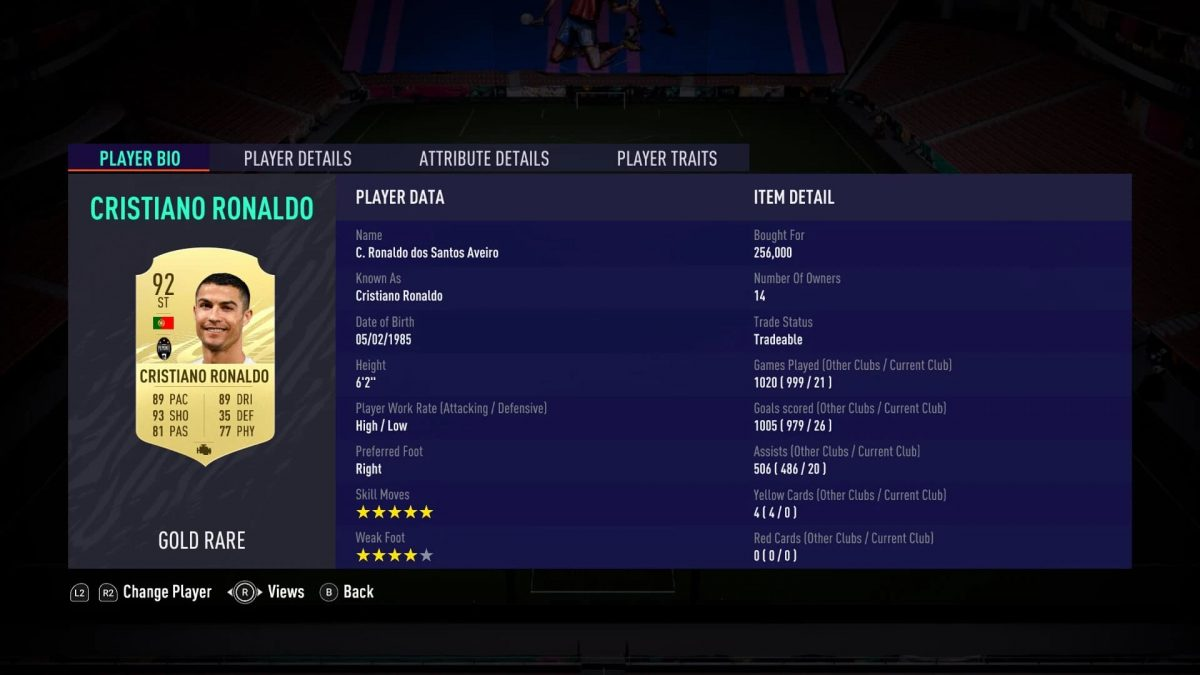 FIFA 21 FUT Champs Techenet Cristiano Ronaldo