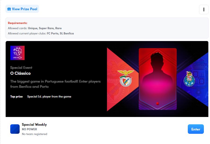 Sorare Benfica v Porto Fantasy League das Criptomoedas NFTs