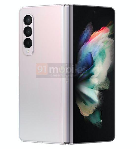 Samsung Galaxy Z Fold3 Gradiente Branco Rosa 3 cores, design, leak, Samsung, Samsung Galaxy Z Fold3, smartphone dobrável