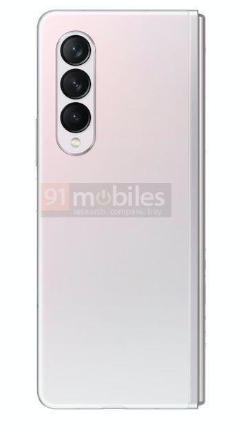 Samsung Galaxy Z Fold3 Gradiente Branco Rosa 4 cores, design, leak, Samsung, Samsung Galaxy Z Fold3, smartphone dobrável