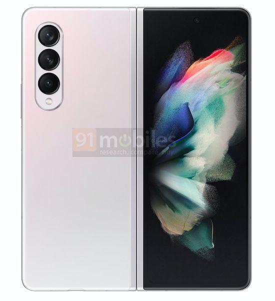 Samsung Galaxy Z Fold3 Gradiente Branco Rosa 9 cores, design, leak, Samsung, Samsung Galaxy Z Fold3, smartphone dobrável