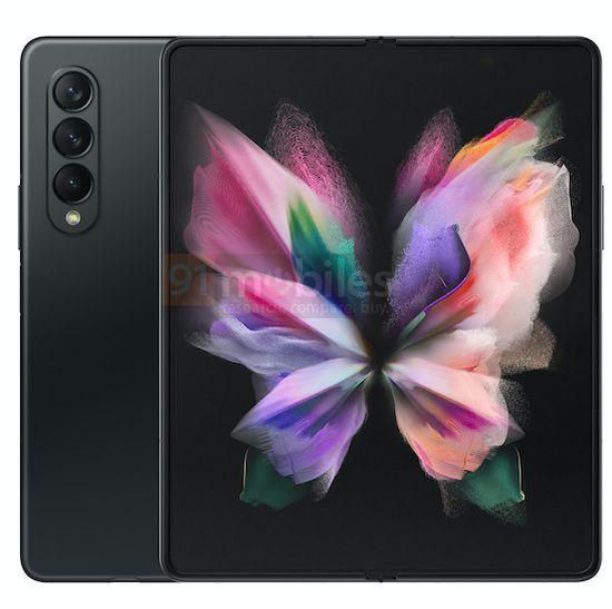 Samsung Galaxy Z Fold3 Preto 1 cores, design, leak, Samsung, Samsung Galaxy Z Fold3, smartphone dobrável
