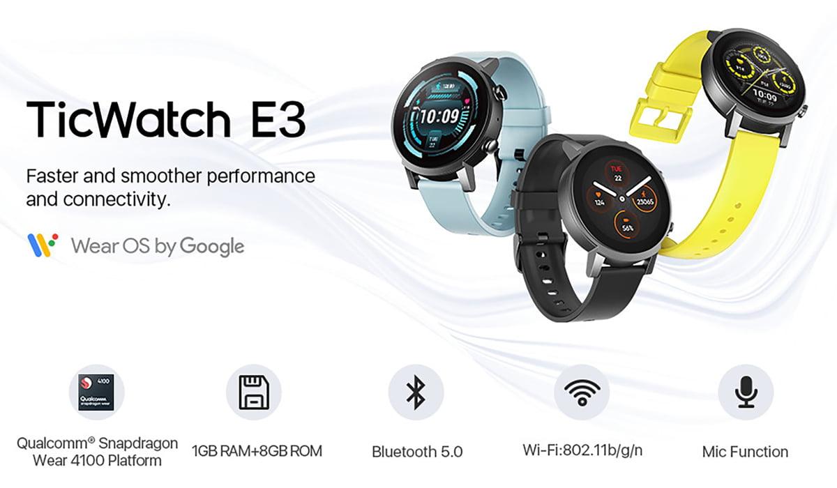 TicWatch E3 smartwatch Wear OS