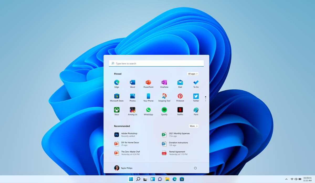Aplicaciones de Windows 11 Microsoft Android