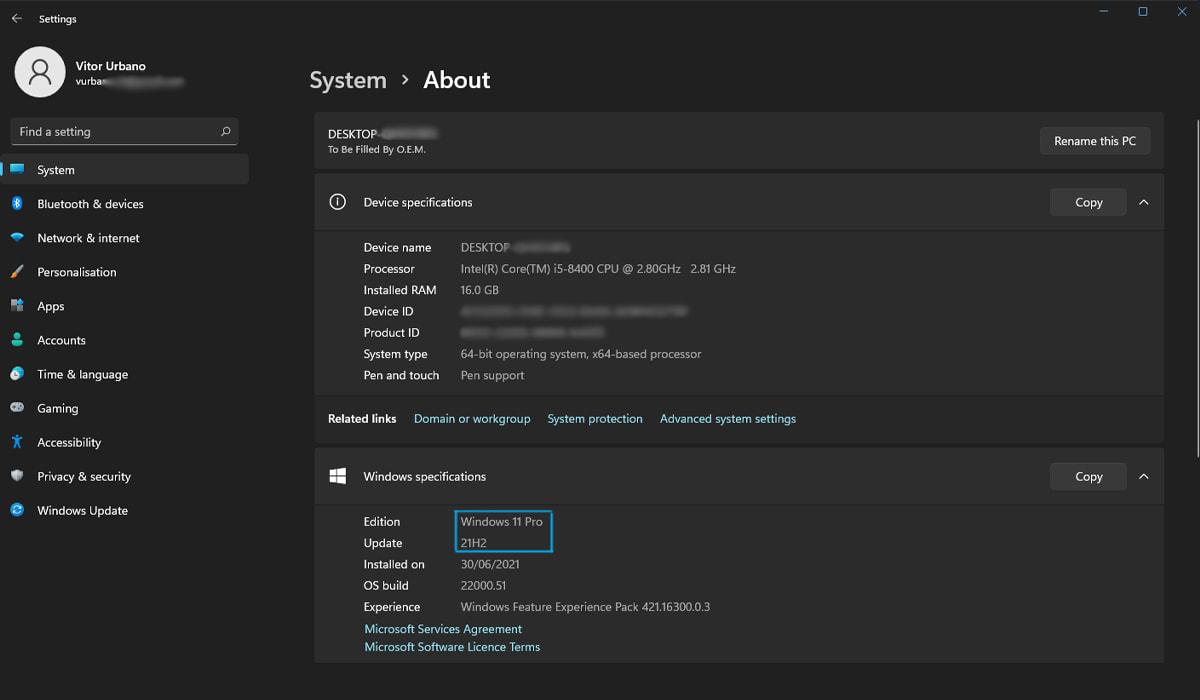 Microsoft Windows 11 Dev Preview