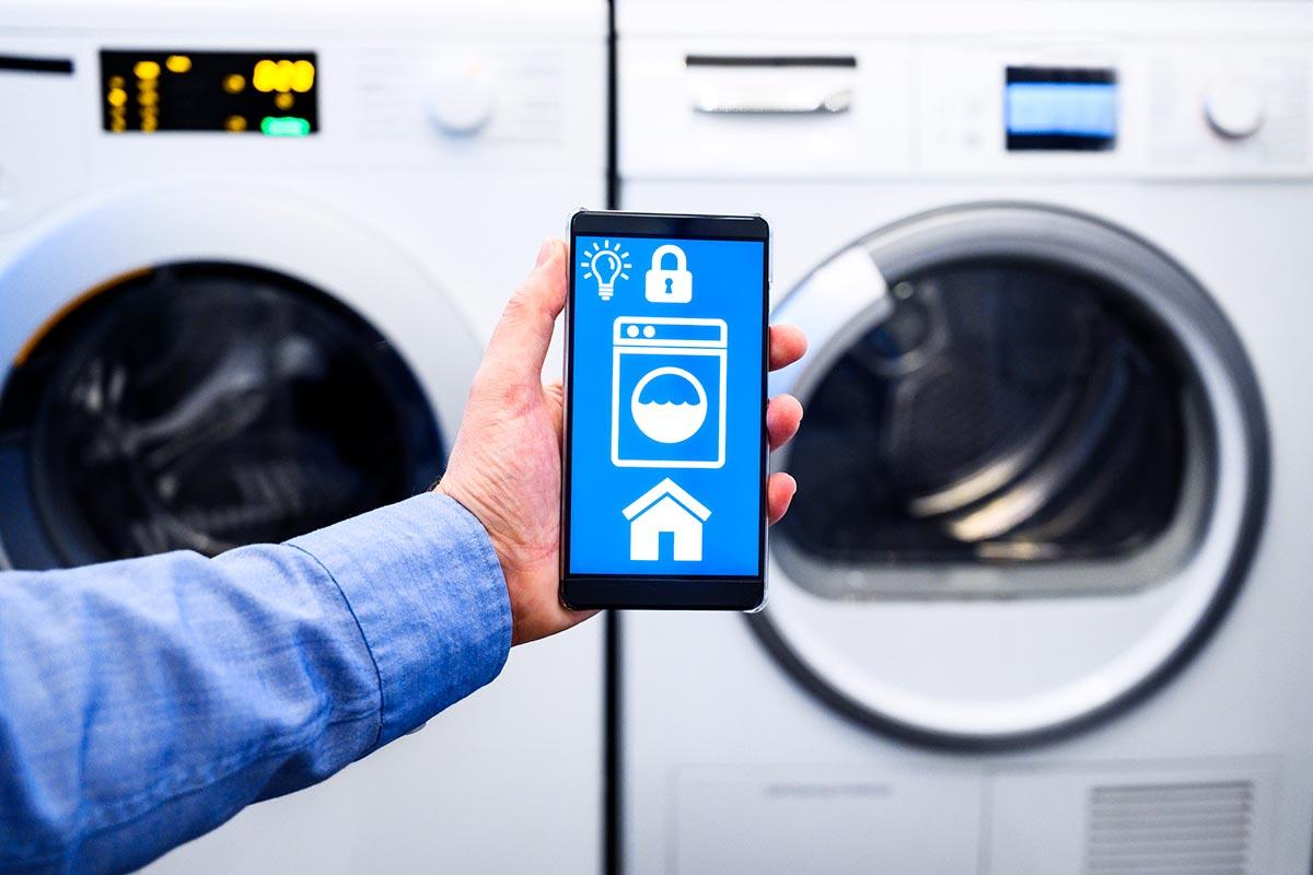 Máquina de lavar inteligente