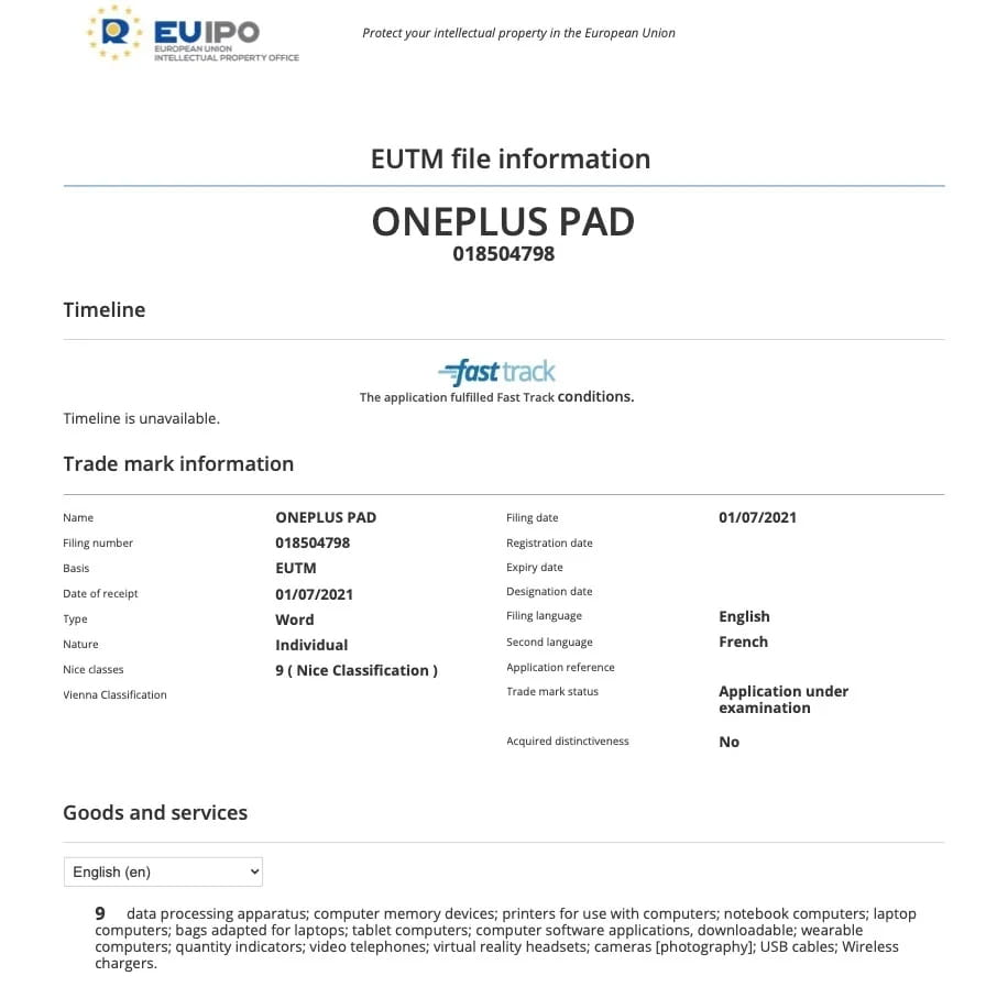 OnePlus Pad Tablet Android