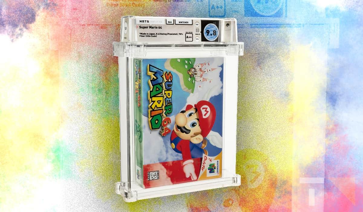Super Mario 64 Leilão 1 milhão