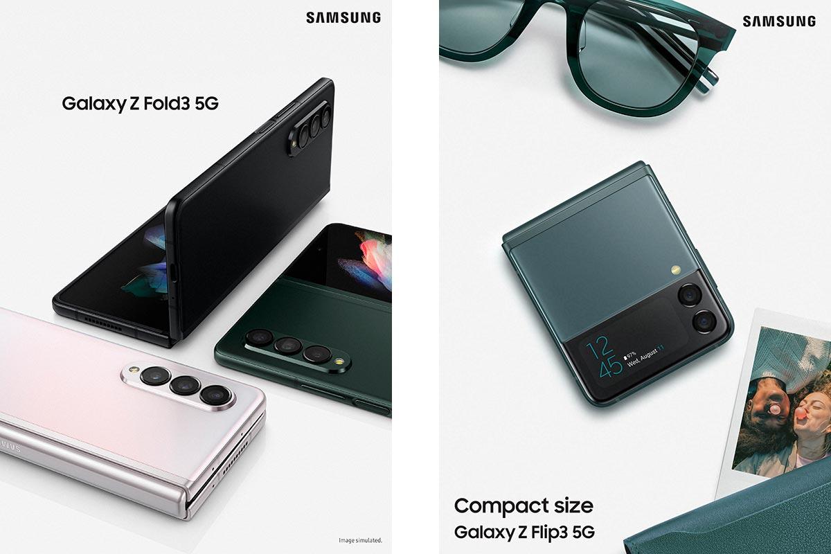Galaxy Z Fold3 5G e Galaxy Z Flip3 5G: Samsung revela novos smartphones
