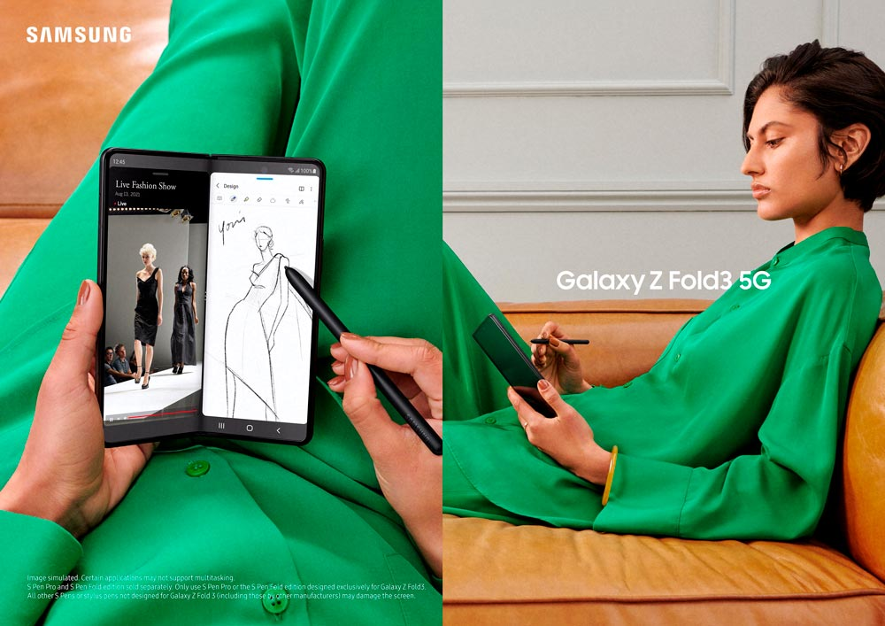 Galaxy Z Fold3 5G: Para trabalho e lazer