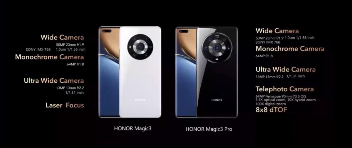 Honor Magic3 e Magic3 Pro