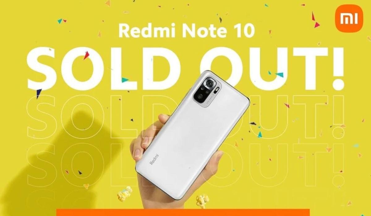 Xiaomi Redmi Note 10 esgotado