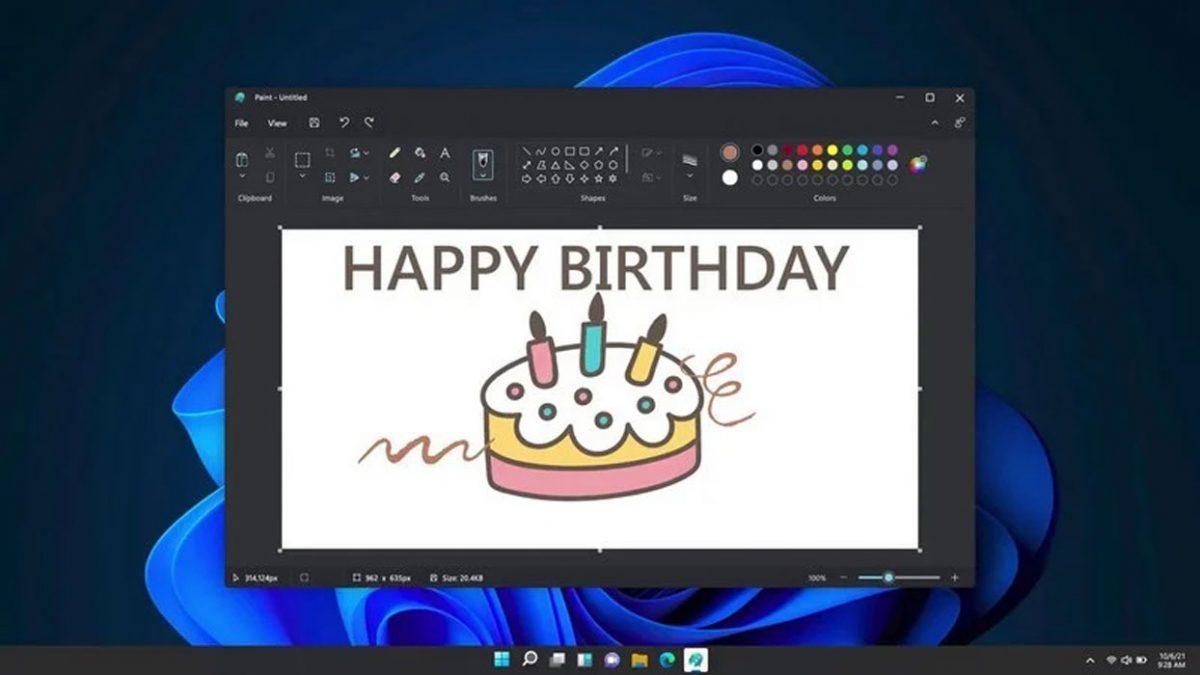 Windows 11 Microsoft Paint