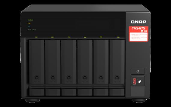 QNAP Apresenta o NAS TVS-675 2.5GbE com Processador de 8 Núcleos Zhaoxin, Caching SSD M.2, Expansão PCIe e Saída HDMI 4K