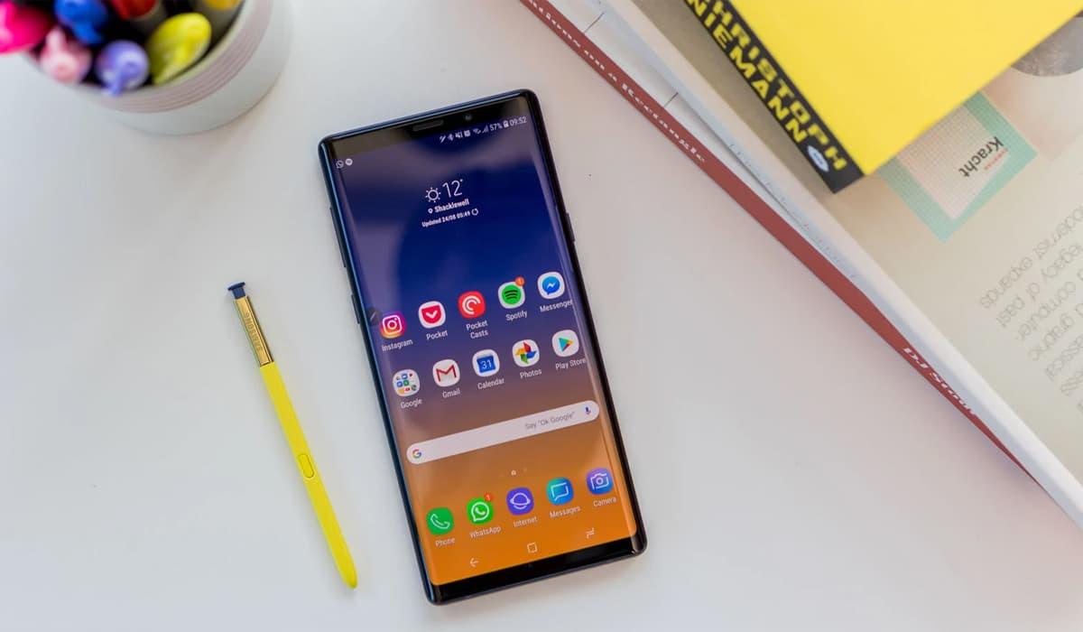 Samsung Galaxy Note 9 atualizações