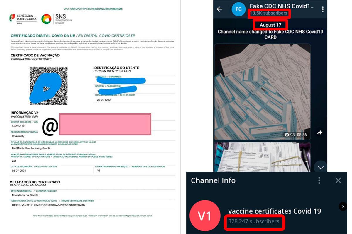 Fraude: certificados de vacinação falsos já chegaram a Portugal