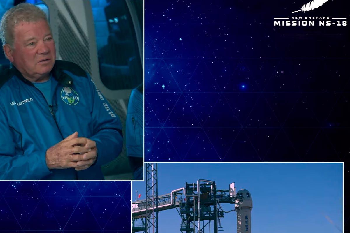 """""""Beam me up Bezos"""": Capitão Kirk foi mesmo ao espaço"""